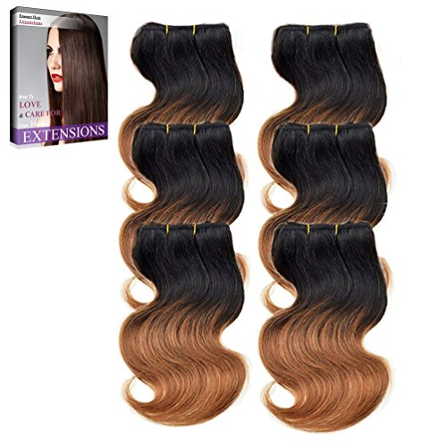 Emmet 7A Bodywave 6pcs/lot 300g 50g/pc Brazilian Human Hair Extension, with Hair Care Ebook - Shopping Sites List Online Indian