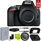 Nikon D5600 DSLR Camera (Body Only) (Black) 1575 + Hand Strap for DSLR Camera + 5 Piece Lens Cleaning Kit + Microfiber Cleaning Cloth + 1 Year Extended Warranty Bundle