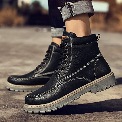 Black Zyuq Augmenté Outillage Coton Martin Neige Casual Hommes Hiver 8cm Pour Chaud Épais Chaussures Et Bottes qwRqBxzZ
