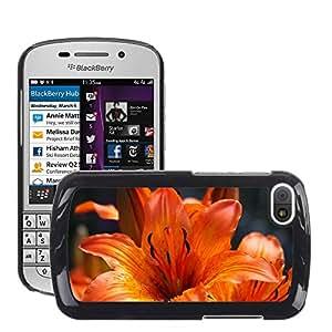 Etui Housse Coque de Protection Cover Rigide pour // M00150814 Antecedentes del lirio rojo planta de // BlackBerry Q10