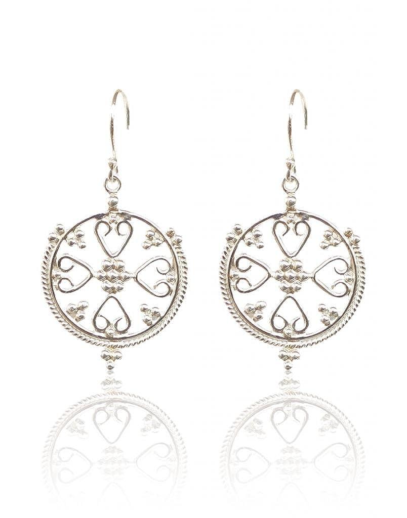 Rajwada Arts Girls Sterling Silver Dangle /& Drop Earrings White