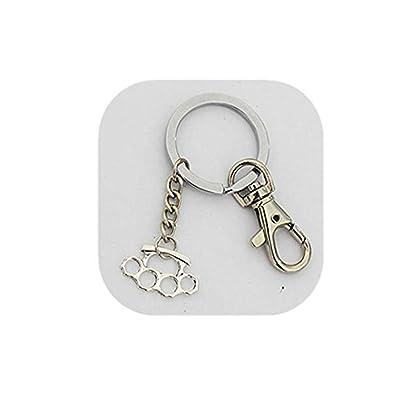 Llavero, diseño de nudillos pulsera de plata llavero de ...