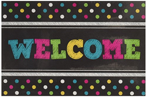 Teacher Created Resources Chalkboard Bright's Welcome Postcards -