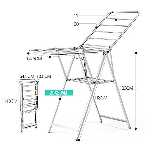 Home Folding Clothes Rack Floor Balcony Sun Clothes Hanger I