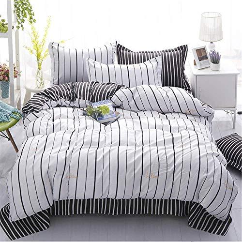 SSHHJ Stripe Bedding Set Duvet Cover Set Twin Queen King Size Bed Cover Pillowcase C 220x240cm ()