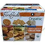 FireSide Variety Pack of Organic Crackers ( 2 Pack Golden Rounds, 1 Pack Thin Wheats, 1 Pack Stone Ground Wheat ) 1.1 Kg.