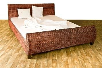 Lit en rotin kubu R01, 200x140cm, marron  Amazon.fr  Cuisine   Maison c1b313c432b3