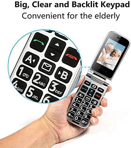 artfone Big Button Flip Phone for Elderly, 3G Unlocked Senior Flip Phone, Large Volume, Tmobile Phone with Radio, SOS, Torch and Camera Functions, Senior Phone with Acc Reciever Like Iphone's (Black) WeeklyReviewer