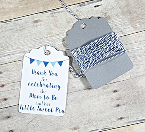 Baby Shower Thank You Tags - Thank You for Celebrating the Mom to Be and Her Little Sweet Pea (Set of - Sweet Pea Baby Shower