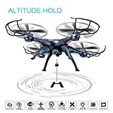 Altitude Hold Drone with HD Camera, RC Quadcopter Kit 720P Live Time Video WiFi Camera FPV Quadcopter Drone Remote Control Airplane Toy Helicopter with Gravity Sensor and Bonus Battery