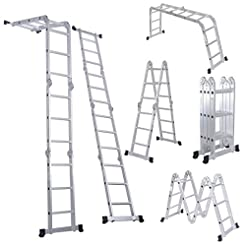 Luisladders Folding Ladder Multi-Purpose...