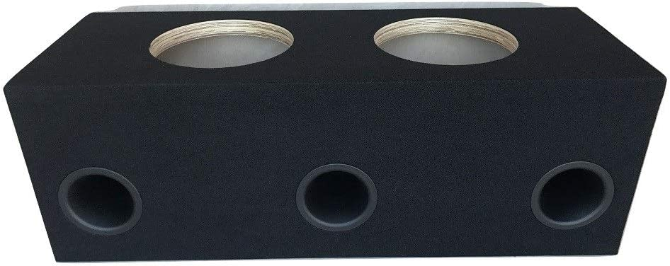 "Custom Ported Sub Box Enclosure for 2 12/"" Subs ~ BIRCH ~ 32 Hz ~ 4/"" Aeroports"