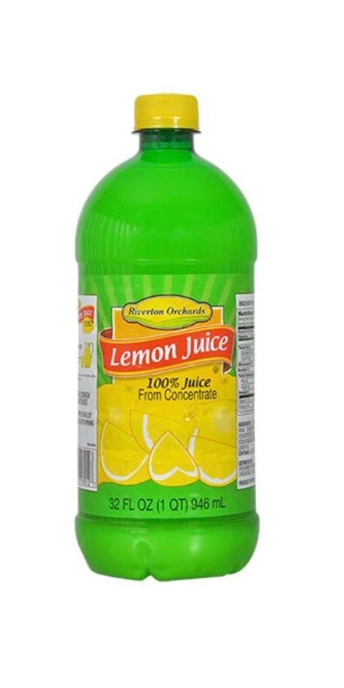 Riverton Orchards Lemon Juice 32 Fl Oz