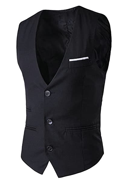 Cotton Skinny Wedding Waistcoat WSPLYSPJY Mens Business Slim Fit Suit Vest