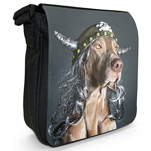 Weimaraner Helmet Bag Small Grey Dog Vorstehhund Shoulder Ghost Size Black Canvas Viking rwU4Tr