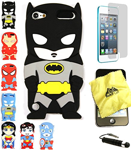BUKIT CELL 3D Superhero Case Bundle, Batman - Black
