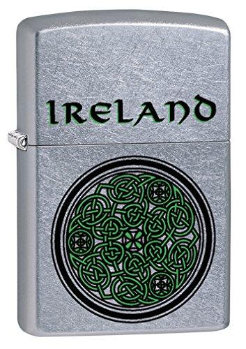 Zippo Lighter: Ireland Celtic Knot - Street Chrome 79254