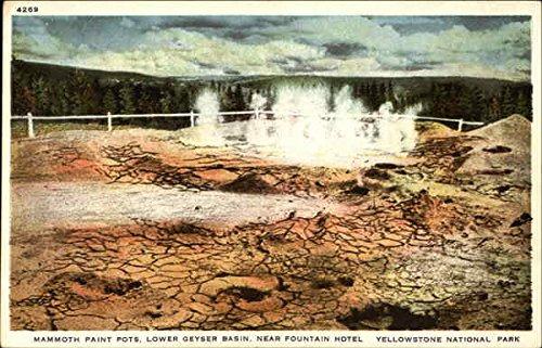 Mammoth Paint Pots, Lower Geyser Basin, Near Fountain Hotel, Yellowstone National Park Original Vintage Postcard ()
