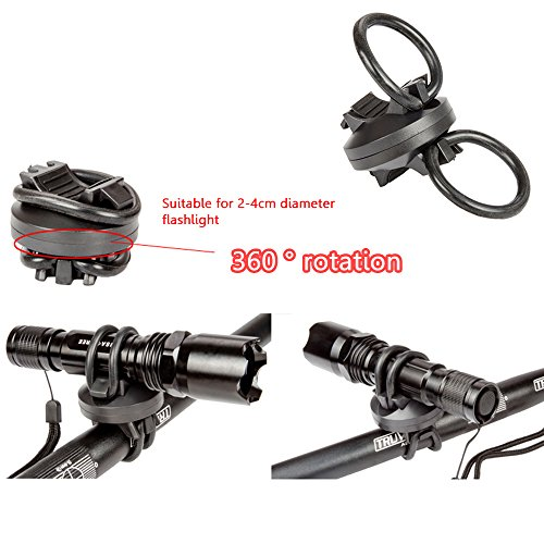 Amazon.com: Bike Flashlight Holder 360 Rotation Torch Clip Mount Flashlight Mount Quick Release Bicycle Flashlight Mount Bike Bicycle Front Light Bracket ...