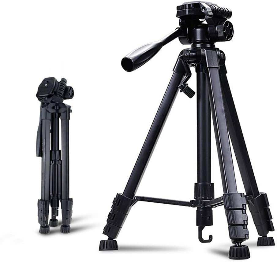 Size : Tripod+Wired Shutter Ball Head and Carrying Bag for Travel for DSLR Canon XHHWZB Camera Tripod 59 Compact Light Aluminium Tripod with Quick Release Plate