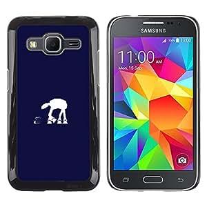 LECELL--Funda protectora / Cubierta / Piel For Samsung Galaxy Core Prime -- En En Azul --