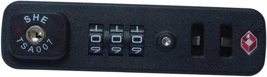 B Baosity Combinación De 3 Dígitos Dial Lock TSA Apporved Para Equipaje De Viaje Maleta Bolsa, Fácil De Configurar, Con 2 Tornillos - TSA007