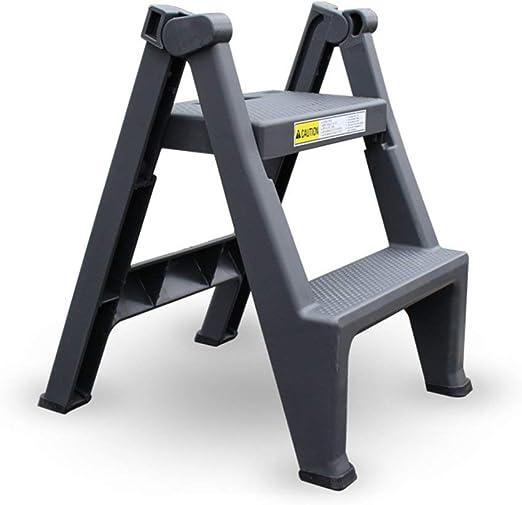 QQXX escalón Taburete Plástico Hogar Plegable Pequeña Escalera Multifunción portátil Espesar escaleras: Amazon.es: Hogar