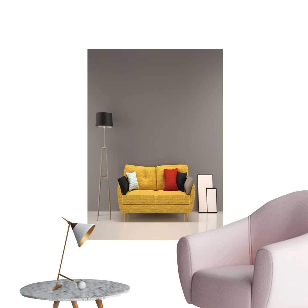Amazon.com: SeptSonne Modern Decor liv Room Gray w Yellow ...