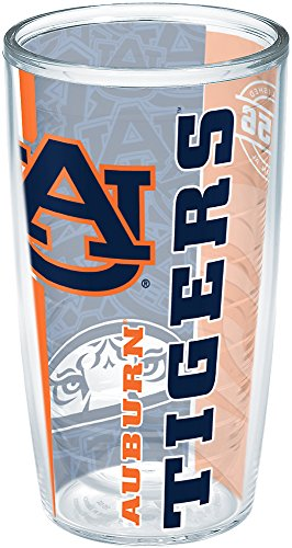 Tervis 1215247 Auburn Tigers College Pride Insulated Tumbler with Wrap, 16oz, (Auburn Tigers Insulated Bottle)
