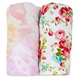 Pack n Play Playard Sheet Set - Portable Mini Crib Mattress Pad Sheets - Convertible Mattress Cover - Stretchy, Fitted Jersey Cotton Will Fit Any Playard Size - Ultra Soft Baby Safe Fabric for Girls: more info