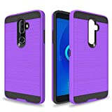 Ayoo for:Alcatel 3V Case,Alcatel 5099A Case,Alcatel 3 V Case,Alcatel 3V Phone Cases,[Drop Protection] Brushed Texture Full-Body Shockproof Protective Cover Design for Alcatel 3V-ZS Purple