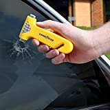 Goodyear Emergency Car/Van Windscreen Hammer, With Seat Belt Cutter & Holder SOS Accident Collision Crash Trapped Escape Get Free