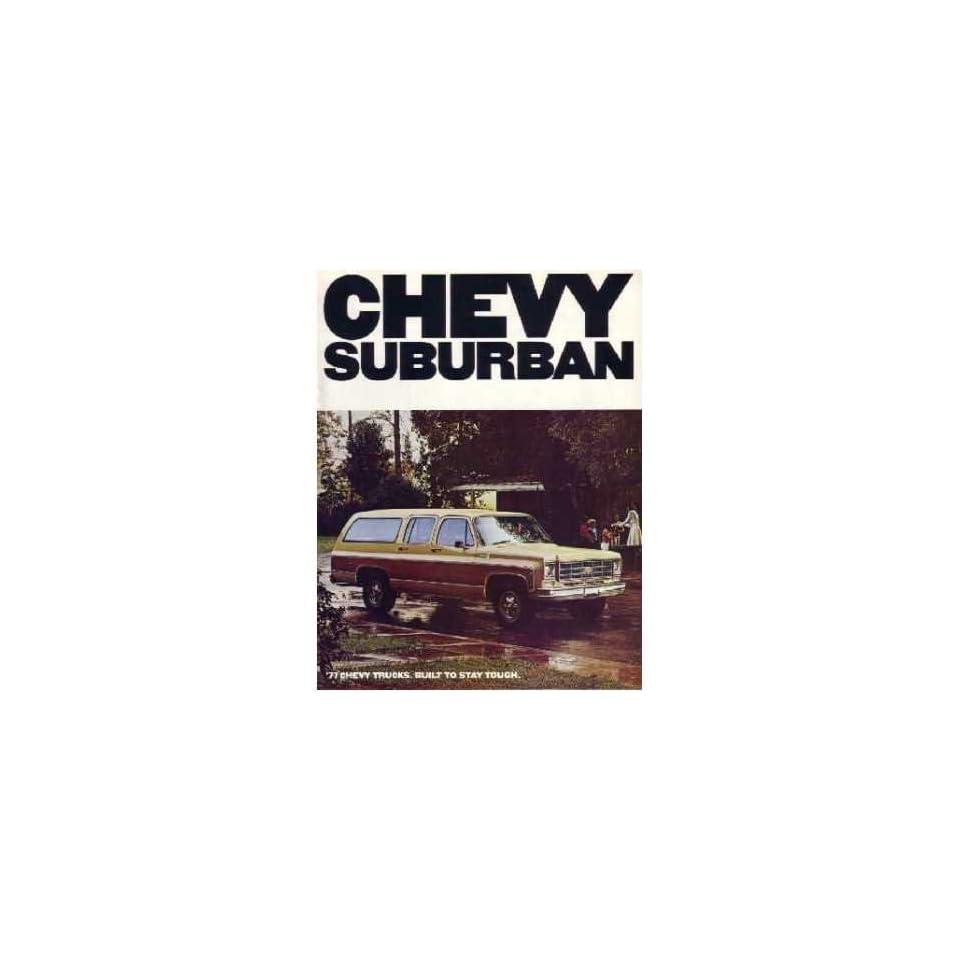 1977 Chevrolet Suburban Sales Brochure Literature Book Options Specification