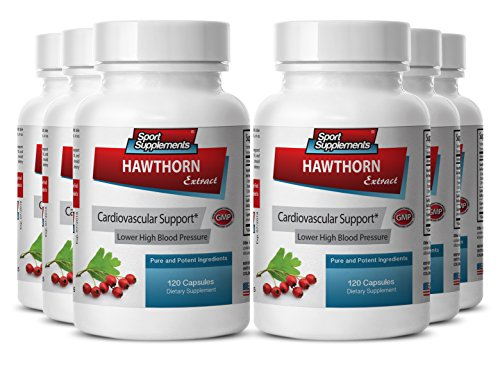 Cayenne tablets - Hawthorn Berry Extract 720 Capsules - Anti-Bacterial properties (6 Bottles) by Sport Supplement