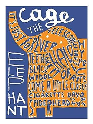 Cage The Elephant, is an American Rock Band from Bowling Green, Kentucky, Matt Shultz, Brad Shultz 12 x 18 Inch Poster