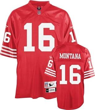 finest selection a5420 6309c Joe Montana 49ers Red Reebok Premier Jersey: Amazon.co.uk ...