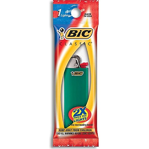 Bic Classic Disposable Lighter, Colors May Vary 1 ea (Pack of 5) Disposable Cigarette Lighters