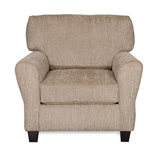 "ExceptionalSheets Council Pewter Fabric Armchair with Tool-Free Assembly & 1-Year Warranty | Contemporary Casual Chair Design, 36""x36""x37"" Assembled For Sale"