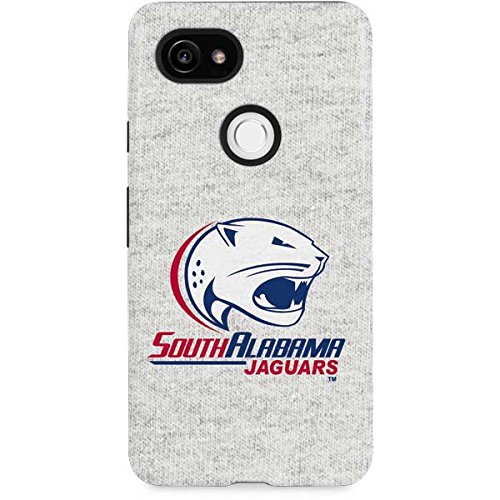 Skinit South Alabama Jaguars Heather Grey Google Pixel 2 XL Pro Case - Officially Licensed Learfield Collegiate Phone Case Pro, Scratch Resistant Google Pixel 2 XL Cover
