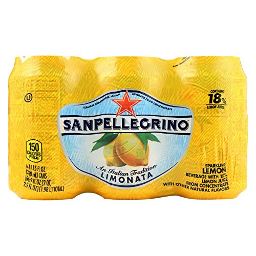 San Pellegrino Sparkling Water - Limonata Cans - Case of 4 - 11.1 Fl oz. by San Pellegrino