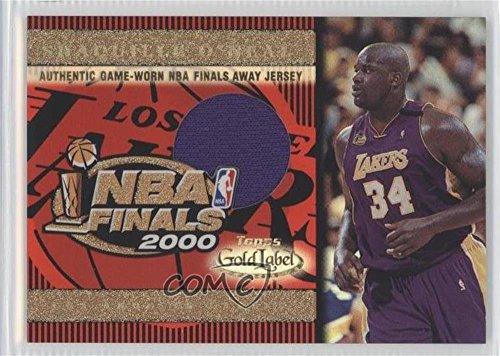 Shaquille O'Neal (Basketball Card) 2000-01 Topps Gold Label NBA Finals Jersey #TT1A ()