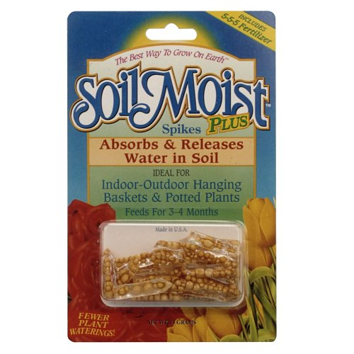 Soil Moist Water Reducing Plant Spikes With 5-5-5 Fertilizer