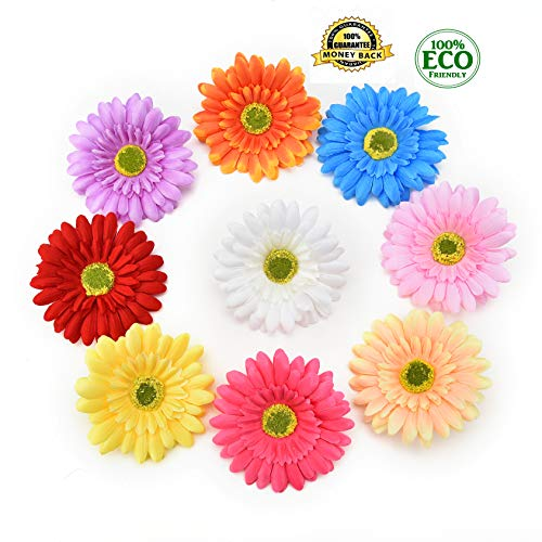 silk flowers in bulk wholesale Fake Flowers Heads Artificial Plants for Christmas Party Supplies Home Garden Decoration Accessories Fake Flower DIY Gifts Silk Rose Garland 15pcs 9cm (Multicolor)
