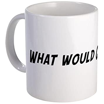 dbf731a2 CafePress What would Christina do? Mug - Standard: Amazon.co.uk: Kitchen &  Home