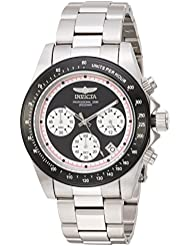Invicta Mens Speedway Quartz Stainless Steel Casual Watch, Color:Silver-Toned (Model: 23120)