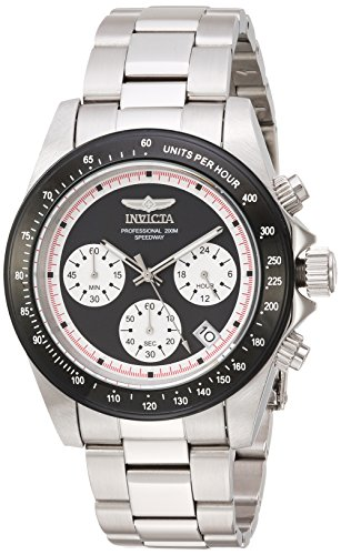 Invicta Men's Speedway Quartz Watch with Stainless-Steel Strap, Silver, 0.75 (Model: 23120)