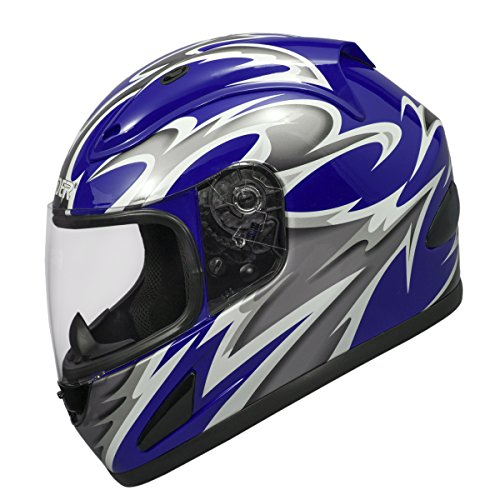 Raider Full Face Helmet (Blue, XX-Large) (Best Full Face Helmet For The Money)