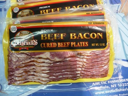 Beef Bacon 12 Oz Package, 4 Pkg 3 Lb