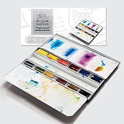 Winsor Newton AWC Heavyweight Enamel Box - 12 Whole Pans [Office Product]