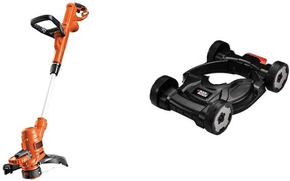 Black+Decker ST5530-QS Cortacésped, 550 W + Black+Decker CM100-XJ Base con Ruedas para cortabordes: Amazon.es: Bricolaje y herramientas